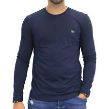Lacoste T-Shirt Shirt Longsleeve langarm Herren TH2040 166 Marine Blau