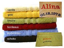 Handtuch bestickt mit Namen oder Text Ihrer Wahl