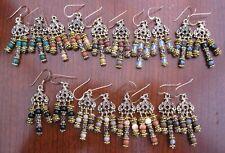 Gemstone Chandelier 14ct Gold Filled Earrings - Gemstone M - P
