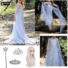 Frozen 2 Veli Vestito Carnevale Elsa Bianco Simil White Elsa Dress FROZ043