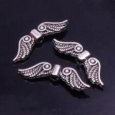 10-50 Metall Flügel Engel Schutzengel Basteln Farbe Silber Engelsflügel 23x7x3mm