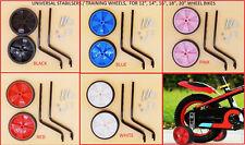 "New Universal Bike Stabilisers Wheel Kids Bikes Cycle Training Wheels 12"" TO 20"""