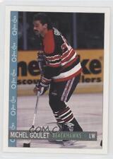 1992-93 O-Pee-Chee #358 Michel Goulet Chicago Blackhawks Hockey Card