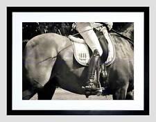 PHOTO COMPOSITION SPORT EQUESTRIAN HORSE RIDER DETAIL JOCKEY ART PRINT B12X8542