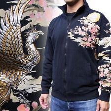 New  Mens Coat Japanese Sukajan Jacket Cotton Embroidery Golden Phoenix Sakura