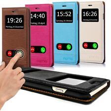 Handy Tasche Flip Cover für Apple Sony LG HTC Schutz Hülle Book Case Etui Wallet