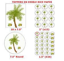 Árbol de coco cake/cupcake Topper Tropical Decoraciones sobre comestibles Papel De Arroz