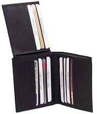 Genuine Leather Cowhide Men's Slim RFID Wallet BLACK, BROWN 7 TAN #4514-R CAN