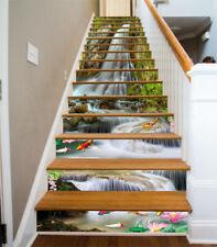 3D River Color Fish Stair Risers Decoration Photo Mural Vinyl Decal Wallpaper AU