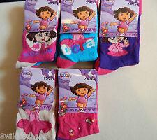 Socks Dora the Explorer Girls Socks 2 Pairs Size UK 6-8.5 EU 23/26