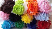 wholesale shabby flower trim, chiffon flower, headband supplies 1 yard you pick