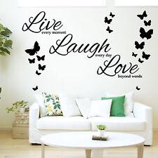 Vivi ogni momento, ridere di ogni giorno, AMORE oltre le parole-Vinile Muro Arte Adesivo