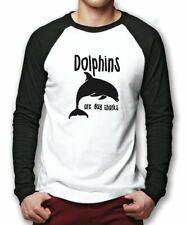 I delfini sono solo Gay SQUALI Baseball Top-Divertente Palla Di Base Camicia da Uomo Tee