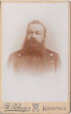 CDV Photo soldati Portrait-Klingenthal 1890er