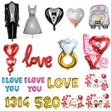 I LOVE YOU Wedding Party Decor Heart /Bride/Groom Designs Foil Helium Balloon