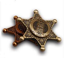 Sheriff badge cowboy fidget hand finger spinner metal toy ADHD ADD Autism