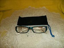 3.50 Eye glasses & CASE SPRING HINGES Readers Sunglasses Blue Reading glasses