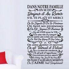 """Sticker Texte """"DANS NOTRE FAMILLE..."""" Arabesque, 50x30cm à 200x120cm (TEX051)"""