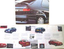 RENAULT 19 16 soupapes 3dr 4-dr 1991 brochure originale uk