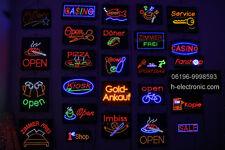 LED Schild Leuchtreklame geöffnet Neon 55X32cm alle Sorten Hell Blinken