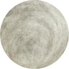 Carded Wool Felting Spinning Craft Hand Spin Wet Needle Felt - Light Grey (mix)