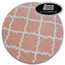 Modernen Weich Teppich SKETCH TRELLIS F343 Kreis rosa/creme angenehm modisch