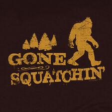 Gone Squatchin' Retro Big Foot hunter gorge festival Squatching Funny T-Shirt