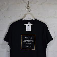 Realtà Wu Tang 36 CAMERE Ricamato Nero Hip Hop Tee T-shirt