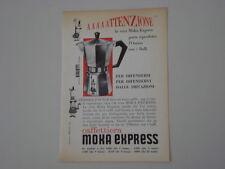 advertising Pubblicità 1960 CAFFETTIERA MOKA EXPRESS BIALETTI