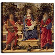 Botticelli Madonna e santi design quadro stampa tela dipinto telaio arredo casa