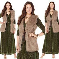 $119 Nikki by Nikki Poulos Mongolian Faux Fur Vest 430051J (Large) $64.90