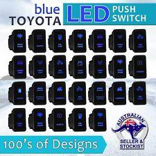 12V Blue LED Fog Light Bar Push Switch For Toyota Landcruiser Hilux FJ Cruiser