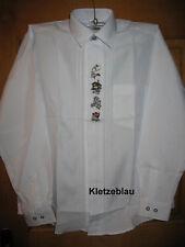 Neues Mode Trachtenhemd M,L,XL,XXL,XXXL Weiß Hemd Jäger Oktoberfest Trachtenmode