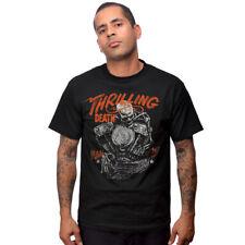 Steady Clothing Rockabilly Vintage T-Shirt - Thrilling Death Biker Skelett