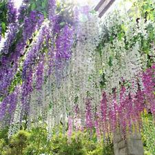 Artificial Wisteria Silk Flowers Trailing Bunches Vine Ivy Garland Plant Wedding