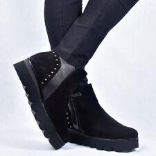 Gadea Damen Leder Stiefeletten Boots Booty Schwarz Neu  37 38 39 40
