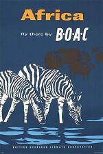 Poster Vintage De África por BOAC aerolínea A3 impresión