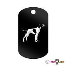 English Pointer Engraved Keychain GI Tag dog  Many Colors