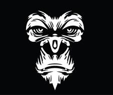 Gorilla Face Decal Window Bumper Sticker Car Decor Monkey Ape Head Zoo Animal