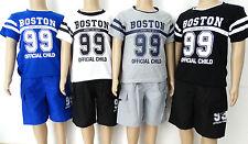Kinder Sommer 2 Teiler Neu Jungen Bermuda + Shirt 2 Tlg Kinder Shorts Bis 158