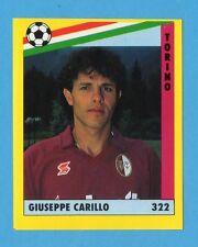 VALLARDI-GRANDE CALCIO '91-Figurina n.322- CARILLO - TORINO -NEW