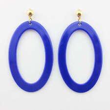 Candy  Color Oval Drop Earrings Summer Dangle Hanging Teardrop Fashion  Jewelry