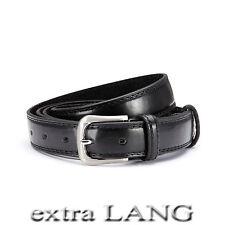 XXL Cinturón sobre la longitud schwarz 3cm de ancho reducible 140cm-165cm / 16-1