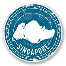 2 x Singapore Vinyl Sticker Laptop Travel Luggage Car #5981