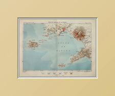 MAPPA,Golfo di NAPOLI e del VESUVIO.CAPRI.NAPLES.CAMPANIA.In Passepartout =1883
