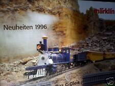 Catalogo treni  MARKLIN 1996 novità Tedesco