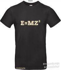 T-Shirt E=MZ²  Mopedjungs Simson MZ Oldtimer Trabant Wartburg DDR Osten ETZ ES
