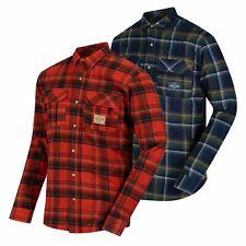 Regatta Tyrus Mens Fleece Lined Long Sleeved Lumber Jack Cotton Check Shirt