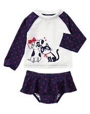 NWT Gymboree Skirted Cat & Dog Heart Rash Guard Set Swimsuit Rashguard NEW 3 4 5