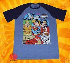 New DC Comics Men's Justice League America Raglan T-Shirt